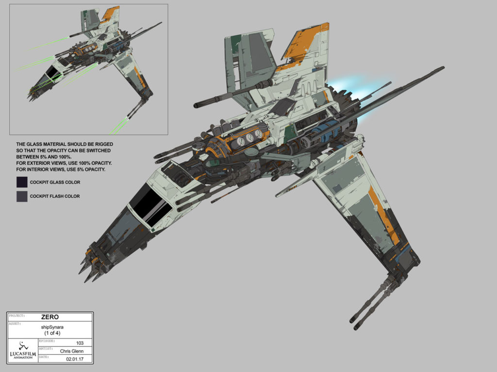 Pirate ship concept art from Star Wars Resistance.