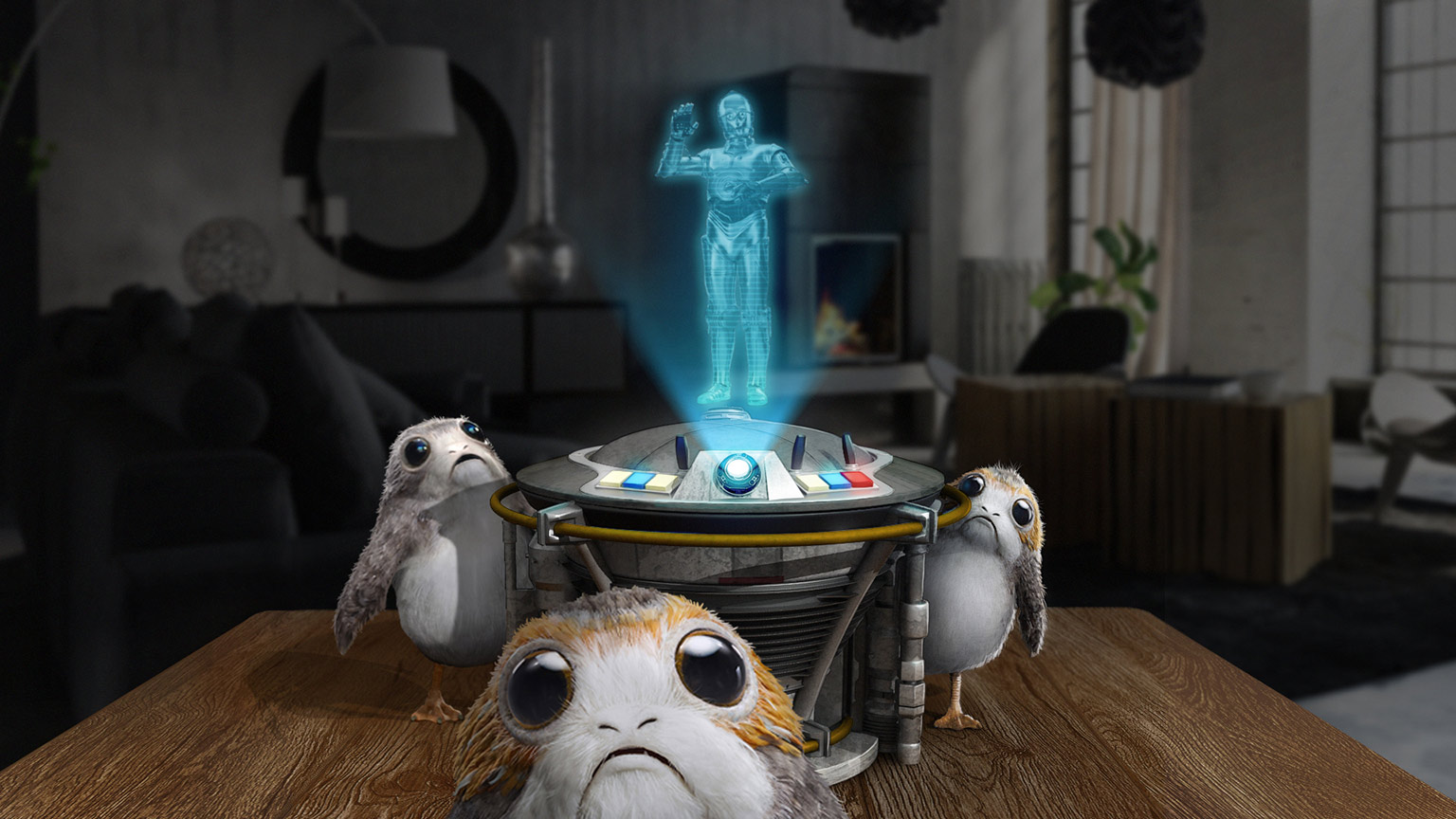 Star Wars: Project Porg -- porgs and C-3PO in your living room!