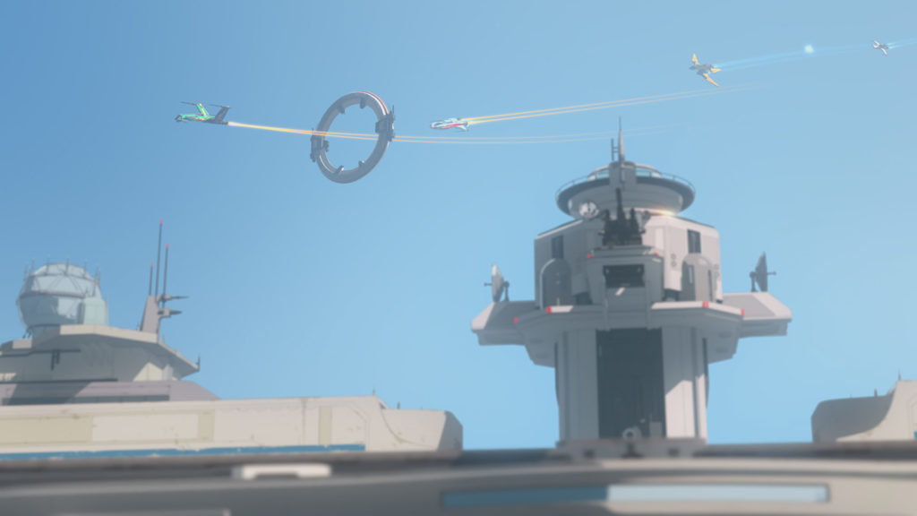 A race around the Colossus in Star Wars Resistance.