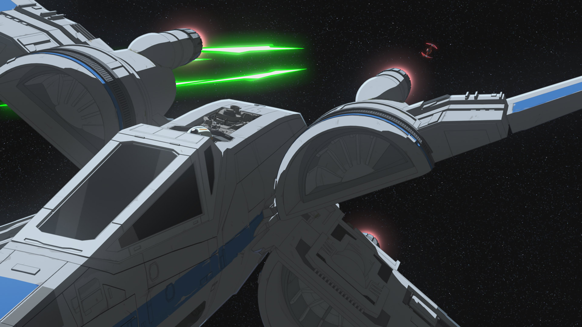 An X-wing in Star Wars Resistance.