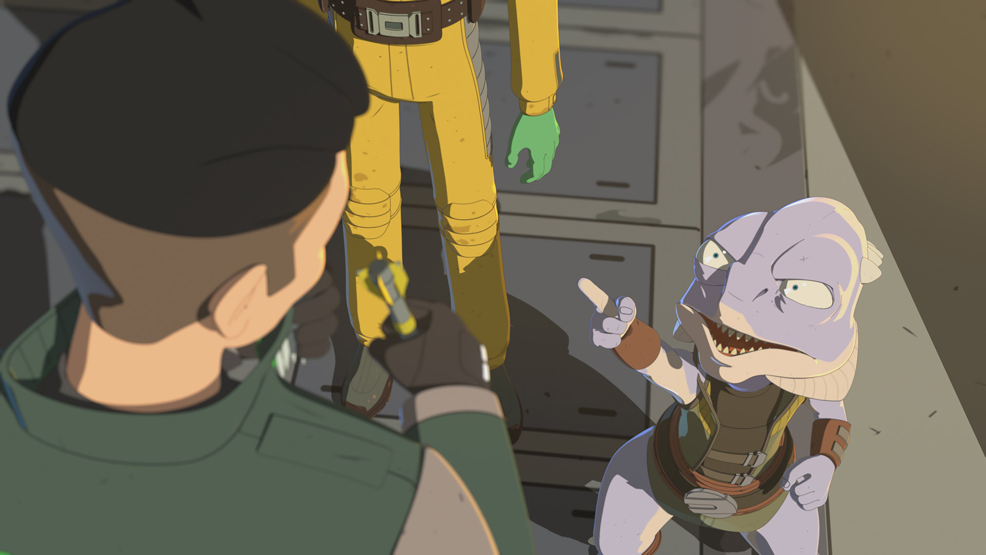 Kaz makes a new friend in Star Wars Resistance.