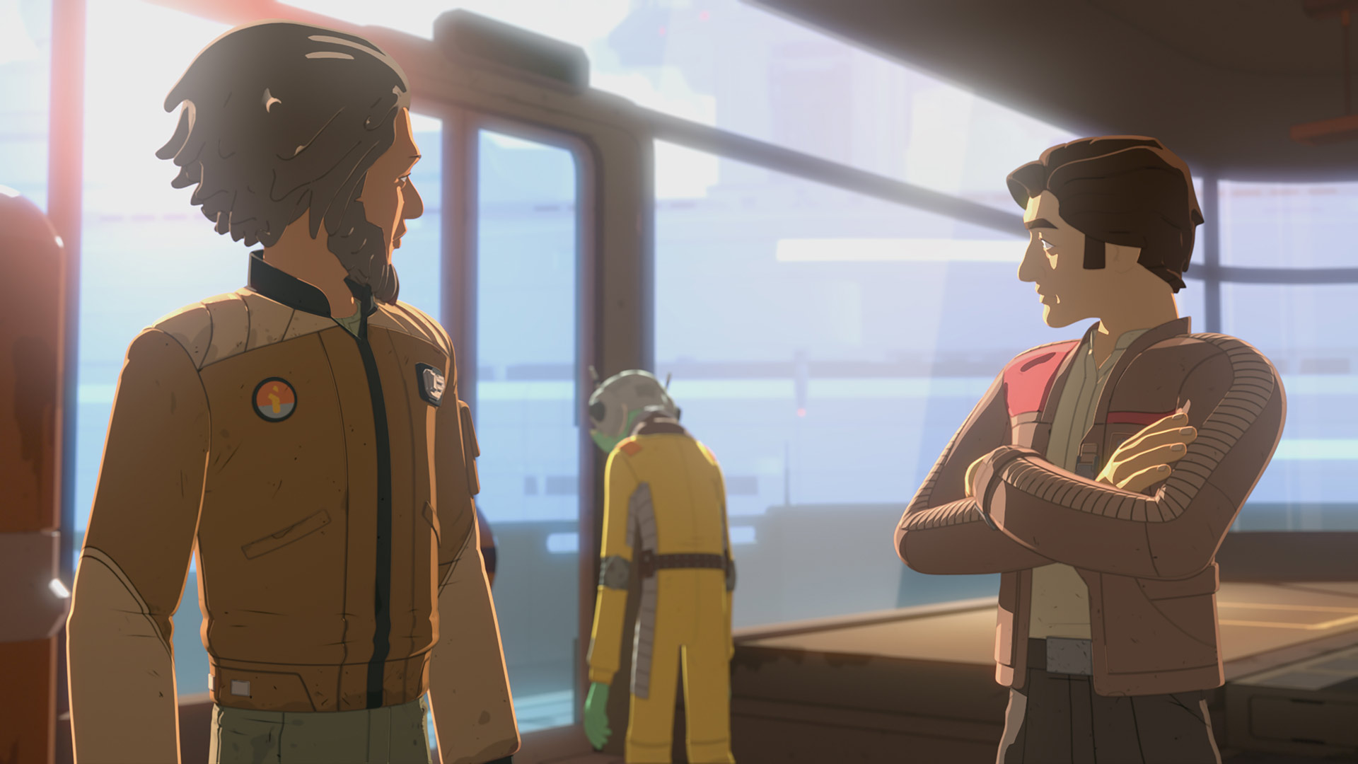 Yeager and Poe Dameron in Star Wars Resistance.