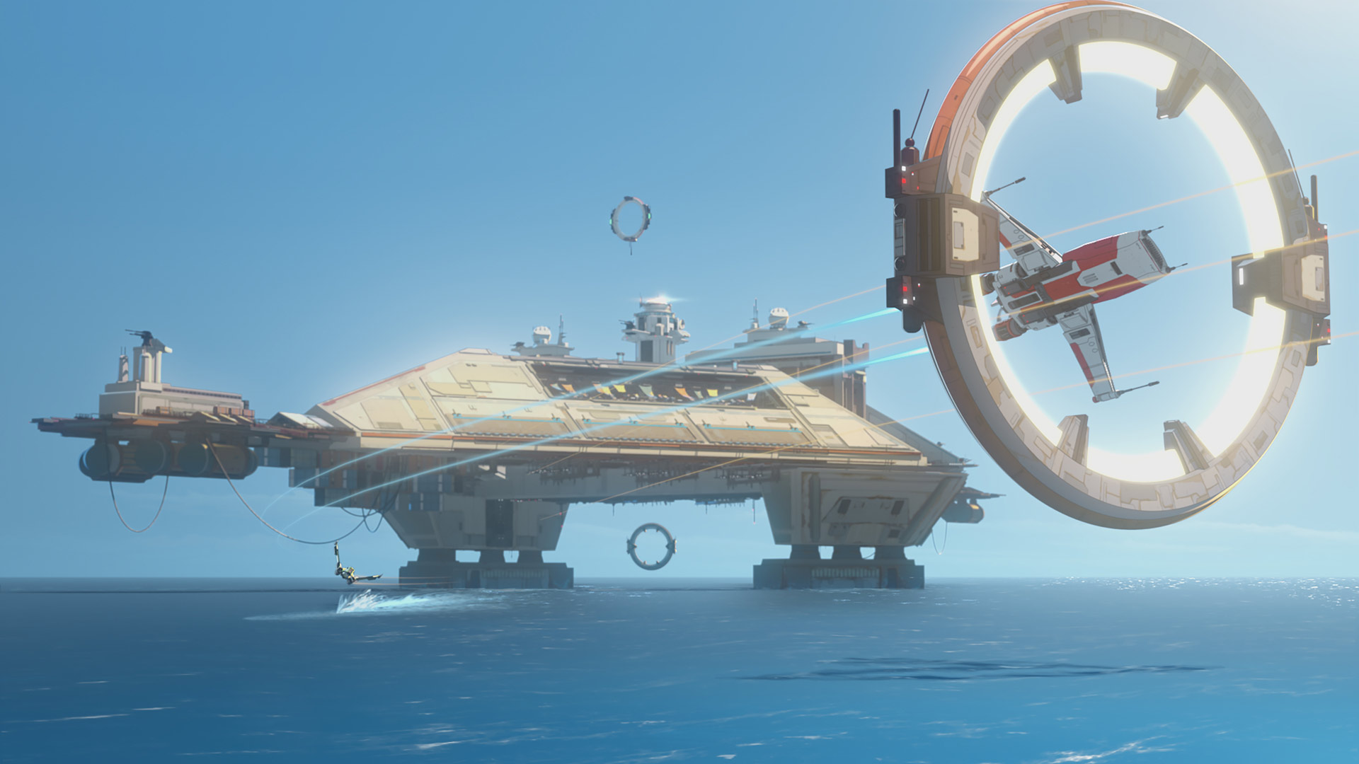 Ships race in Star Wars Resistance.