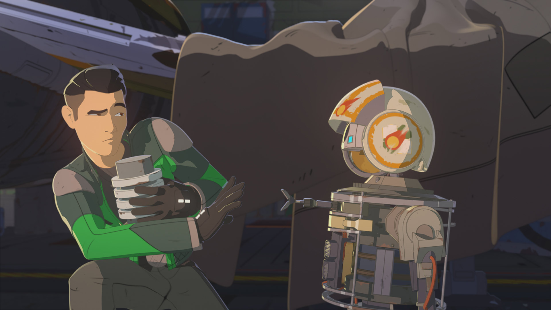 Kaz and Bucket in Star Wars Resistance.