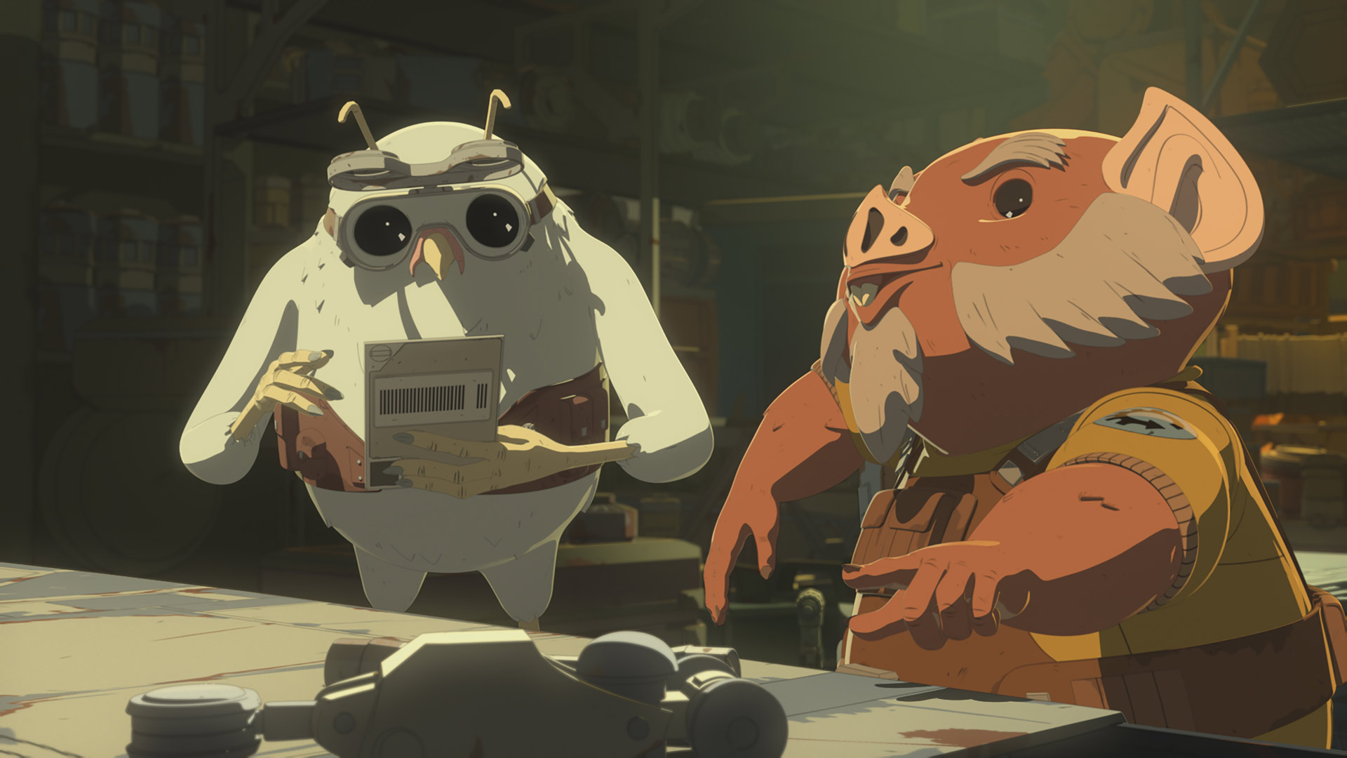 Flix and Orka in Star Wars Resistance.