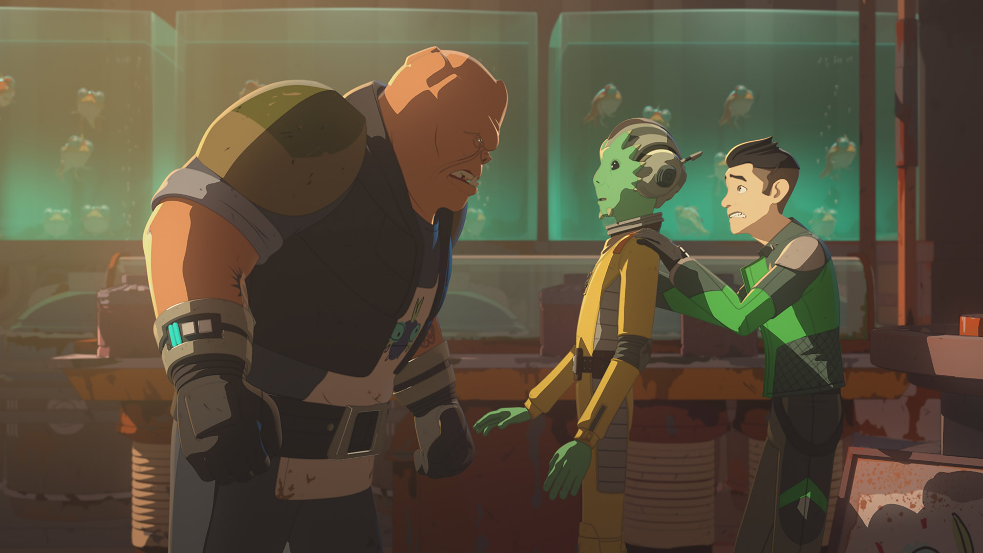 Neeku and Kaz run into trouble in Star Wars Resistance.