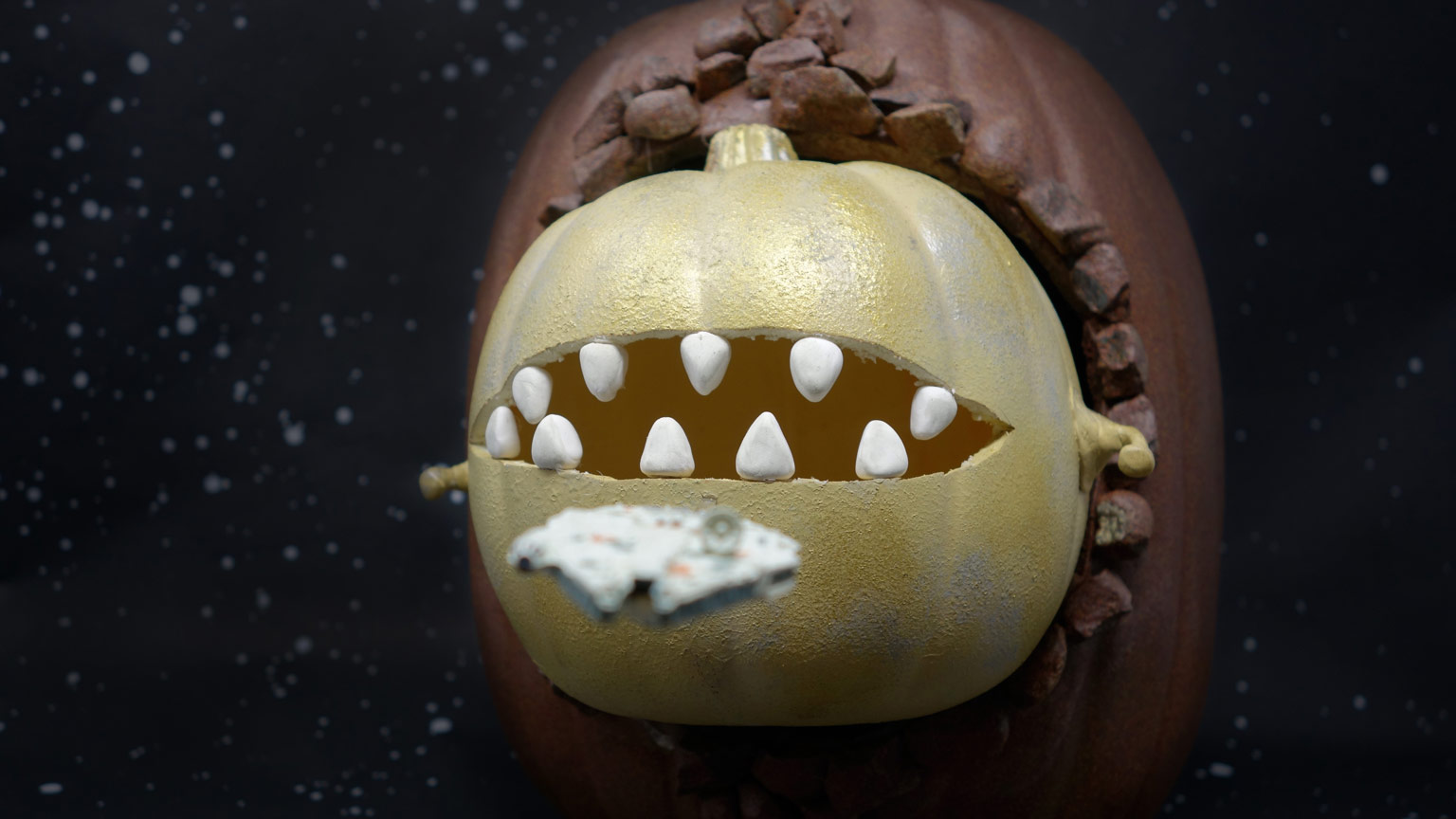 Space Slug pumpkin craft.