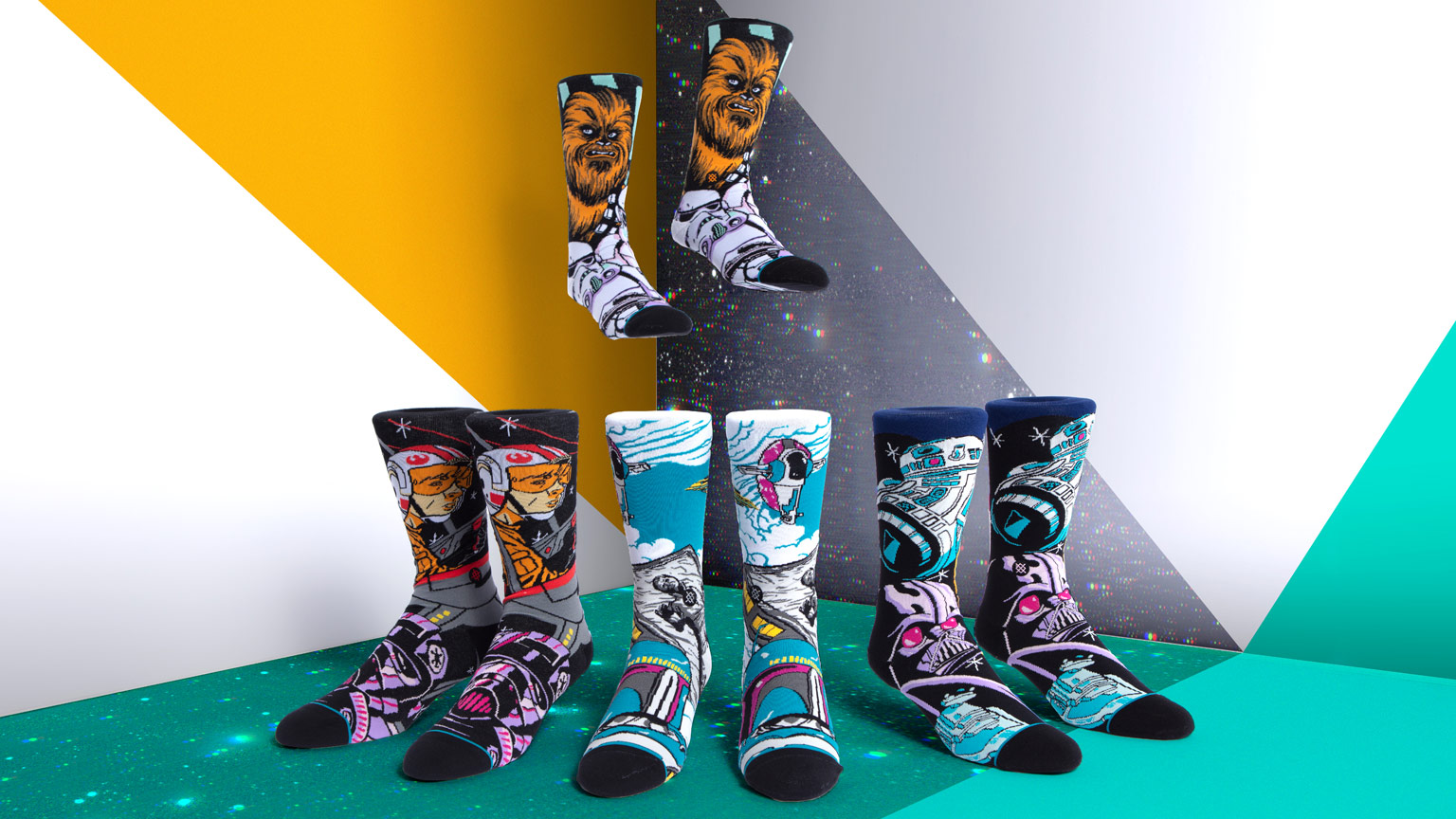 "Stance's Star Wars socks: ""warped"" collection."