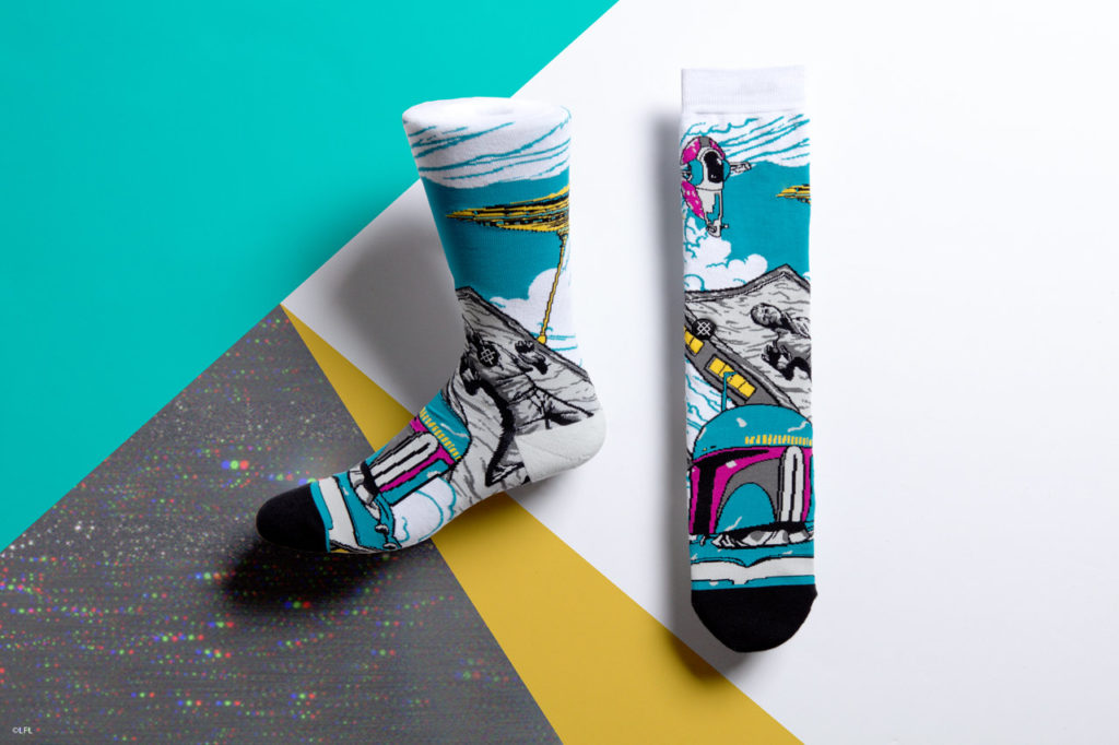 Stance's Star Wars socks: Boba Fett.