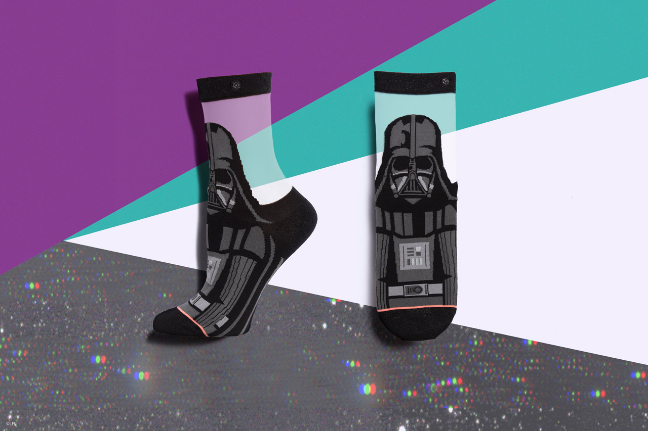 Stance's Darth Vader socks for women from the holiday 2018 collection.