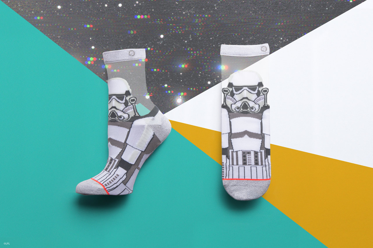 Stance's stormtrooper socks for women from the holiday 2018 collection.