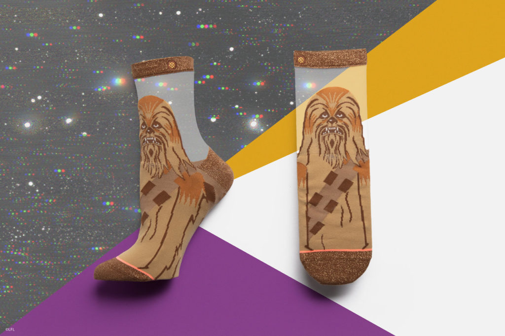 Stance's Chewbacca socks for women from the holiday 2018 collection.