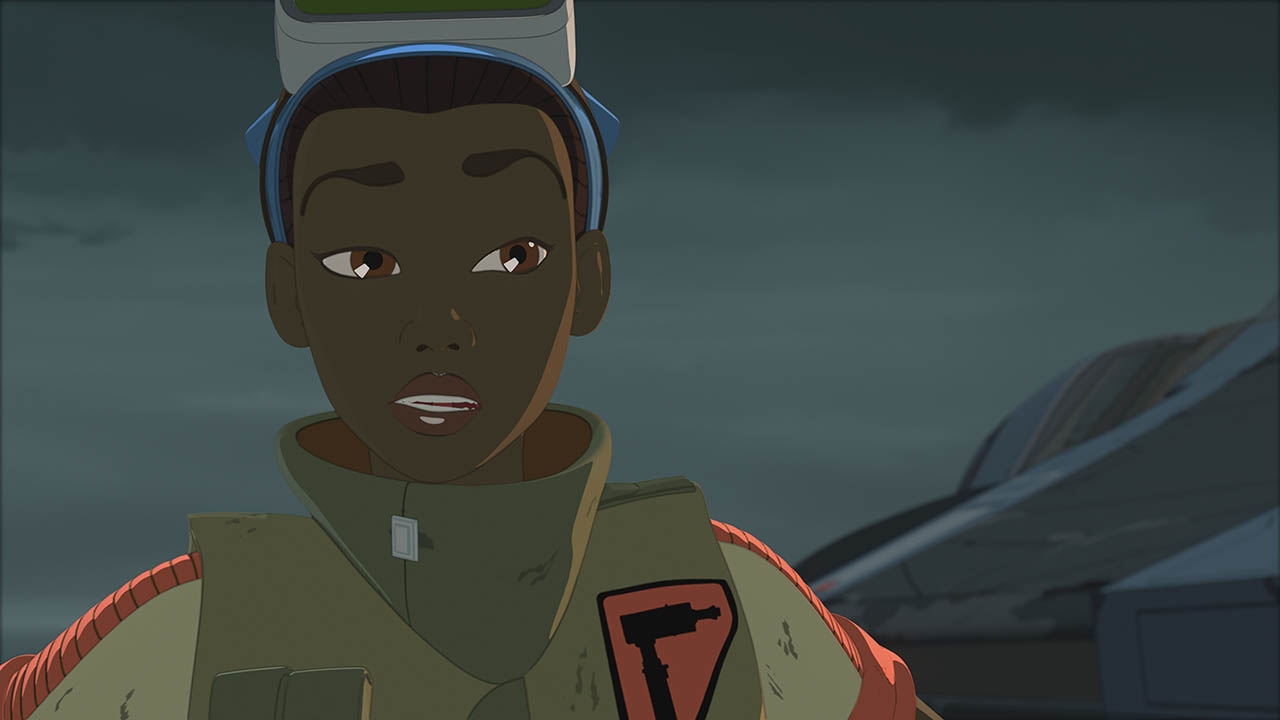Tam looks optimistic in a scene from Star Wars Resistance.