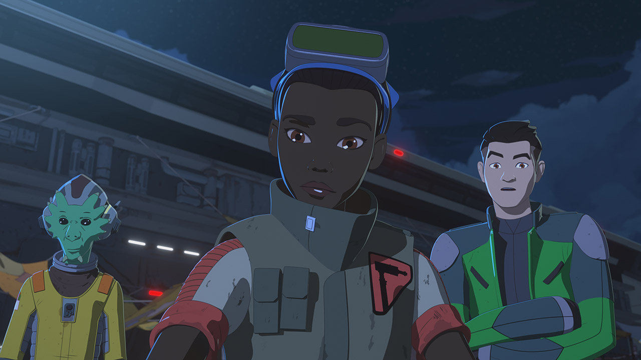 Tam and Team Fireball in Star Wars Resistance.