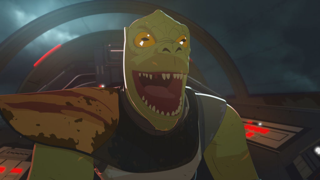 Trandoshan pirate in Star Wars Resistance.