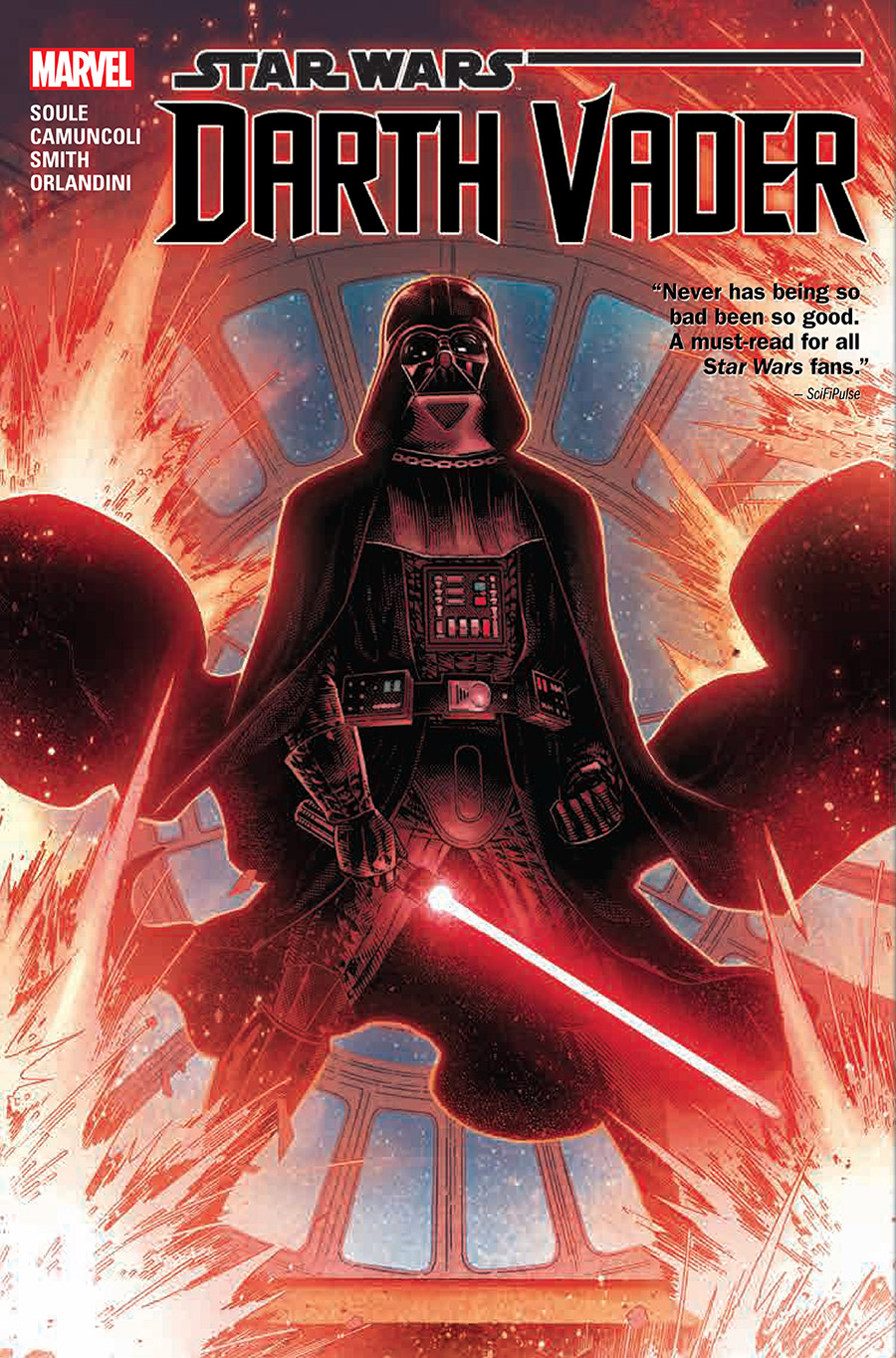 The cover of Marvel's Darth Vader collection.