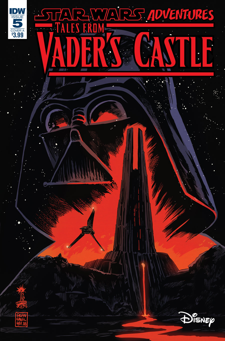 The cover of Tales from Vader's Castle #5.