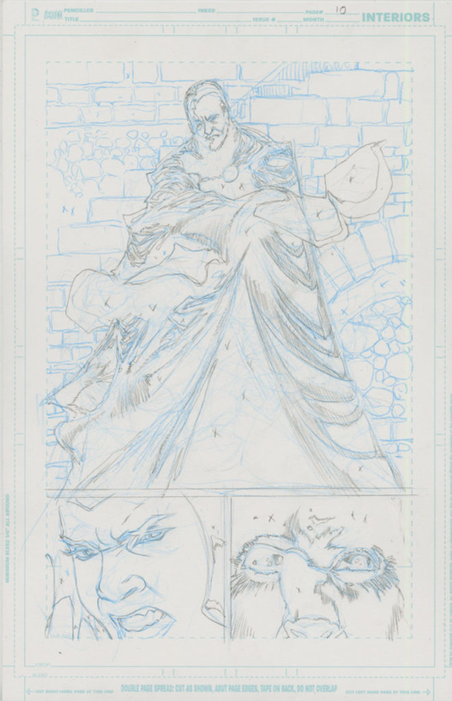 Kelley Jones's pencils of Count Dooku.