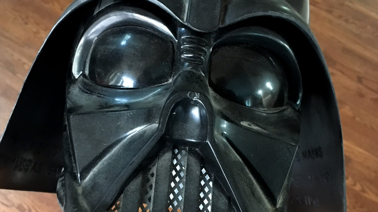 Vintage Darth Vader Halloween mask.