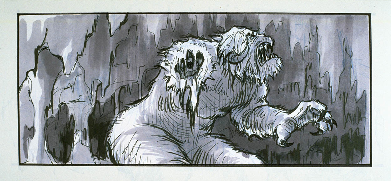 Concept art of the wampa.