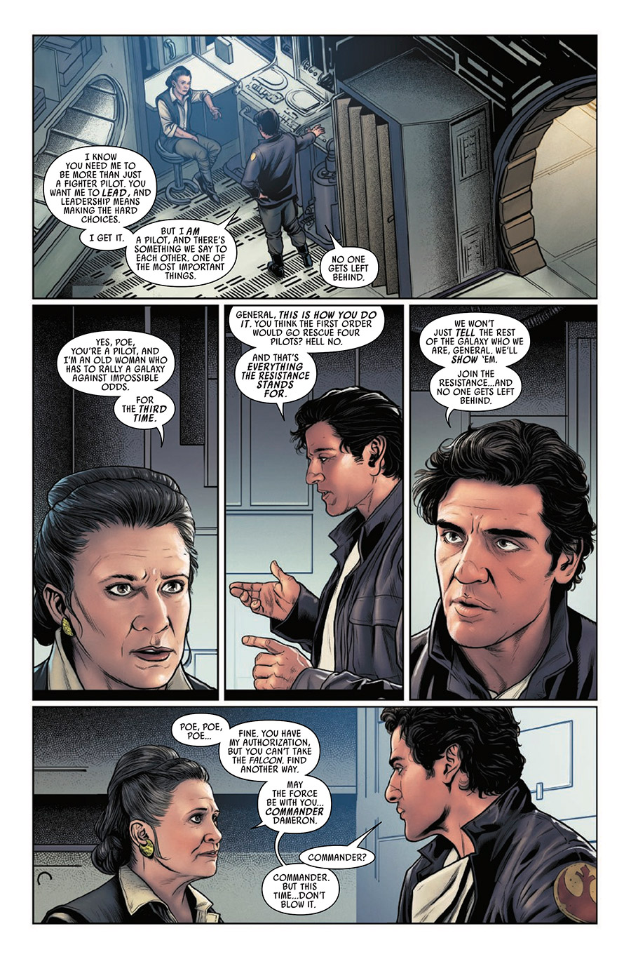 Page 6 from Poe Dameron #31.