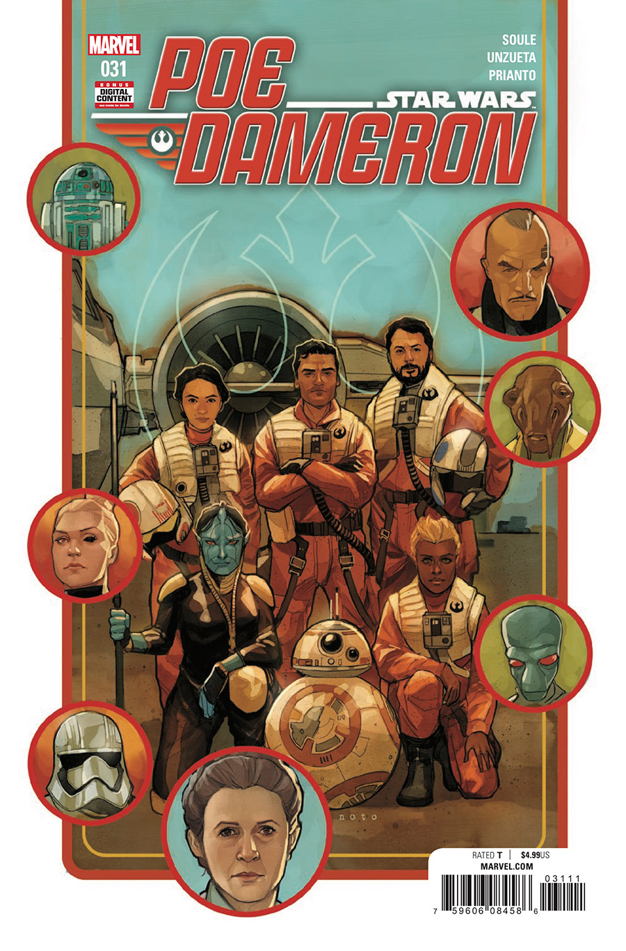 The cover of Poe Dameron #31.