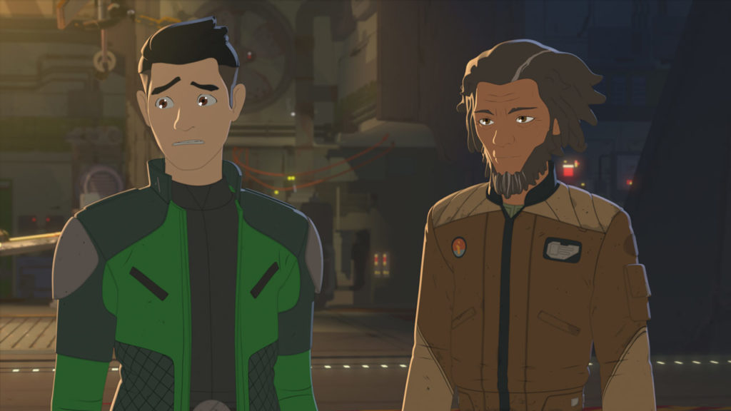 Yaeger and Kaz in Star Wars Resistance.
