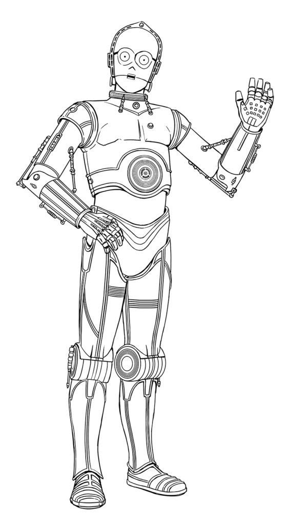 Star Wars: Droidography C-3PO sketch.