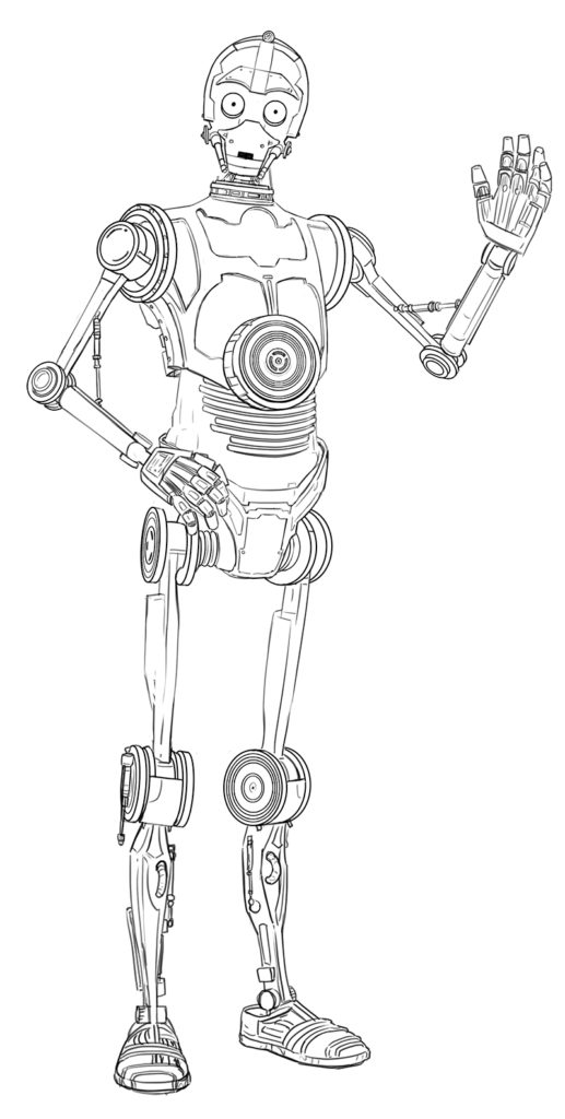 "Star Wars: Droidography ""naked"" C-3PO sketch."