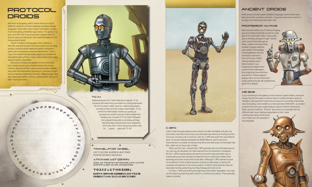 Star Wars: Droidography C-3PO spread.