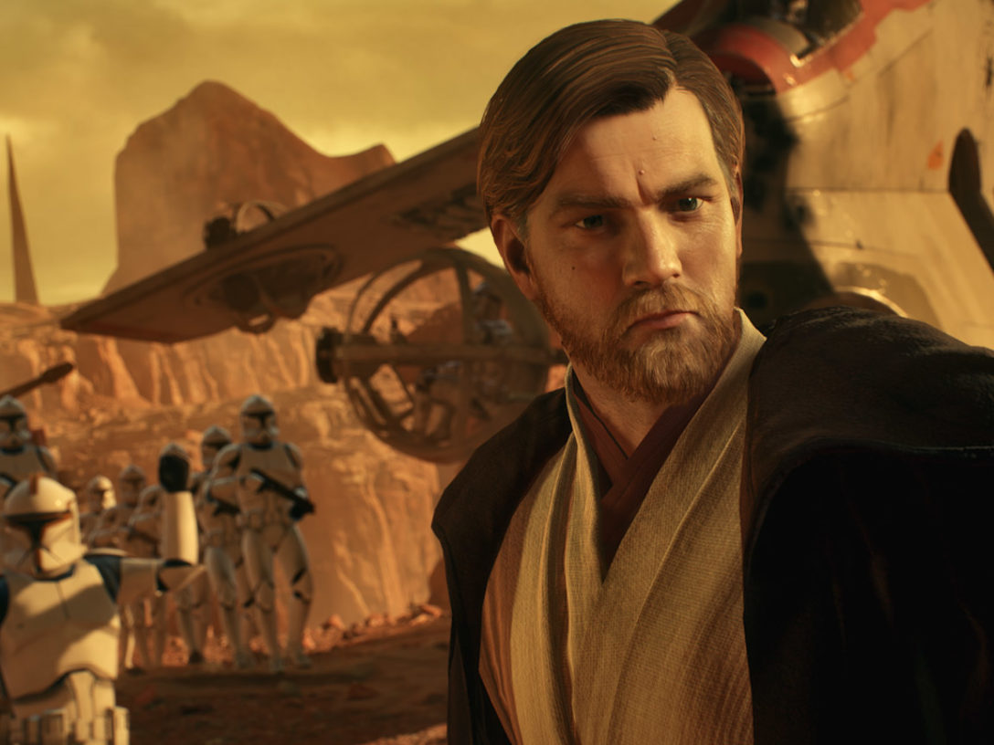 The Battlefront II Geonosis update includes the first apperance by Clone Wars-era Obi-Wan Kenobi.