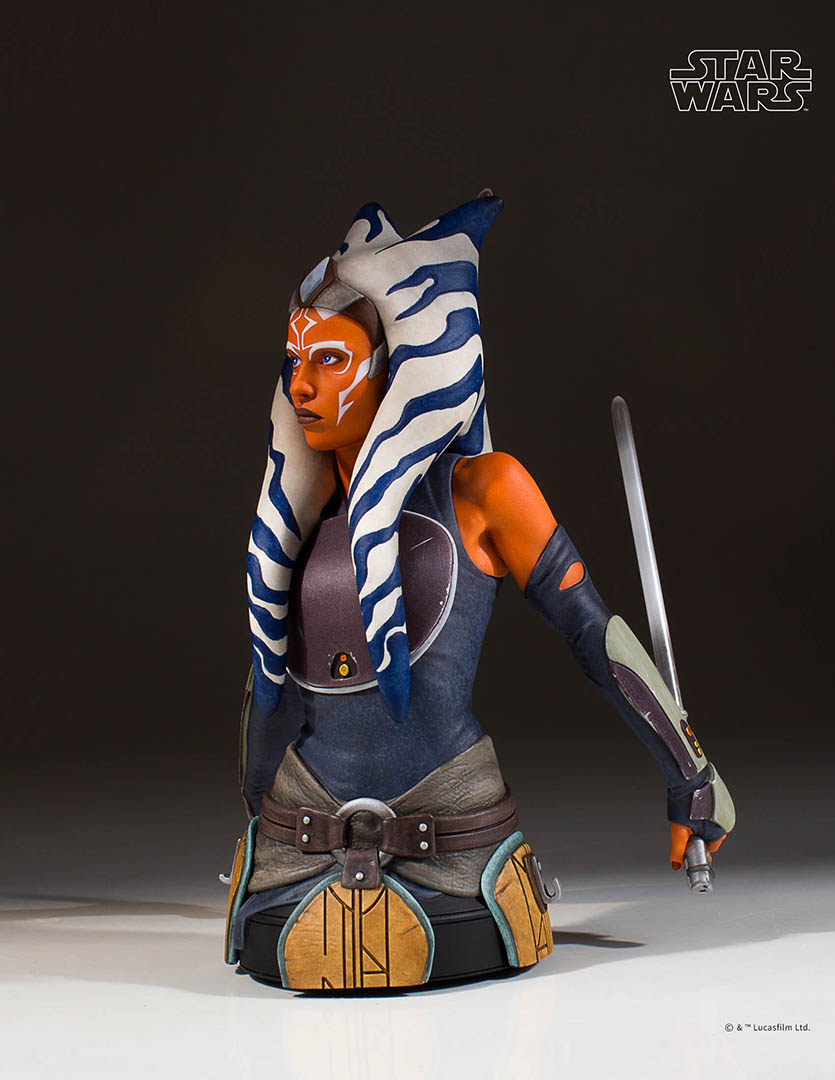 The Gentle Giant Ahsoka Tano mini bust.