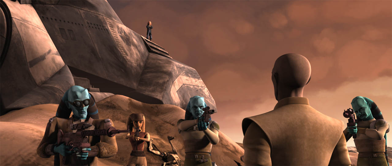 "A scene from ""Liberty on Ryloth."""