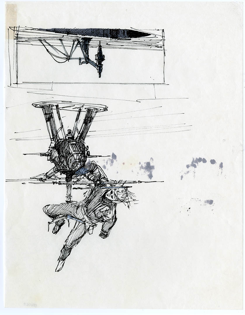 Concept art from The Empire Strikes Back.