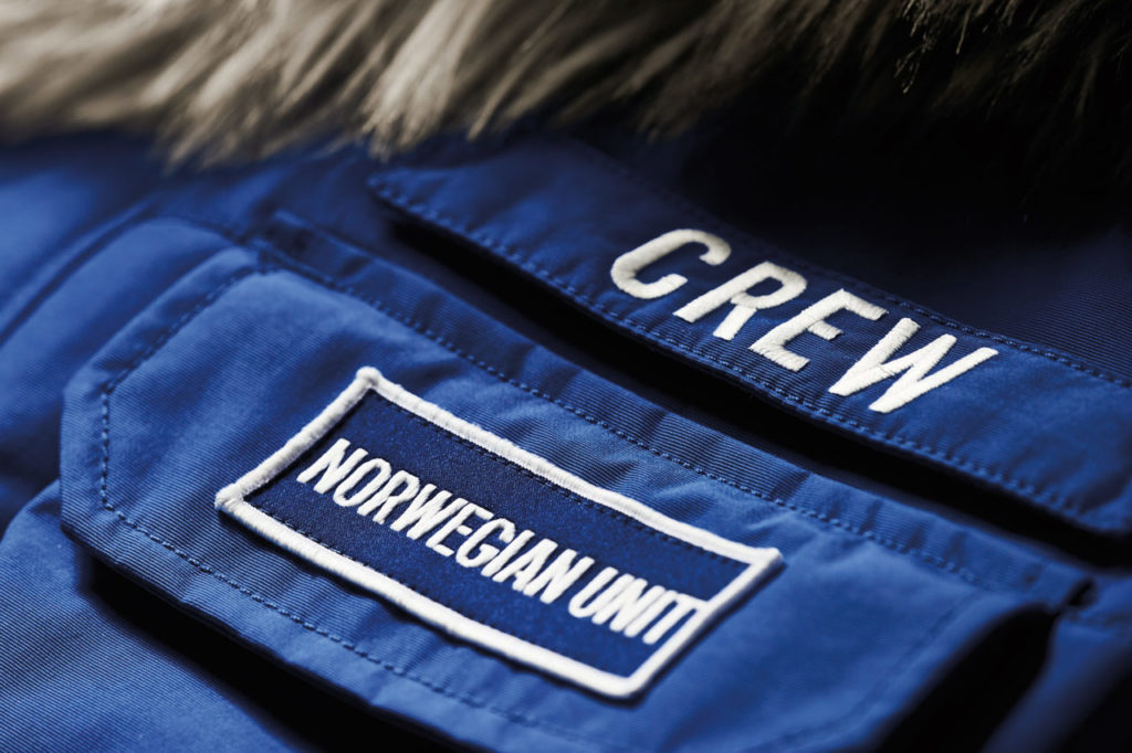Star Wars: Empire Crew Parka Norwegian Unit and Crew patches.