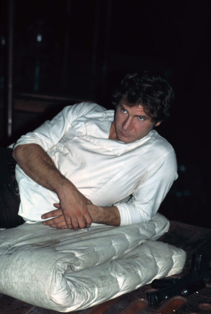 Harrison Ford takes a break shooting The Empire Strikes Back, from the book Star Wars Icons: Han Solo.