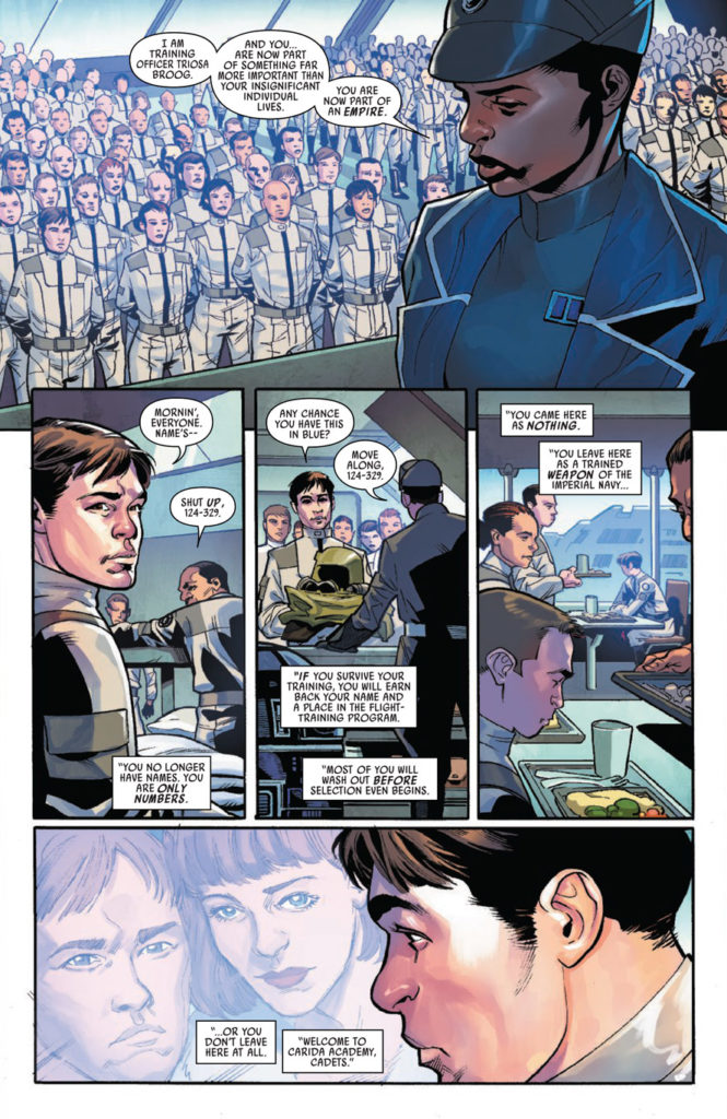 Han Solo at the Imperial Academy in Marvel's Han Solo: Imperial Cadet #1.