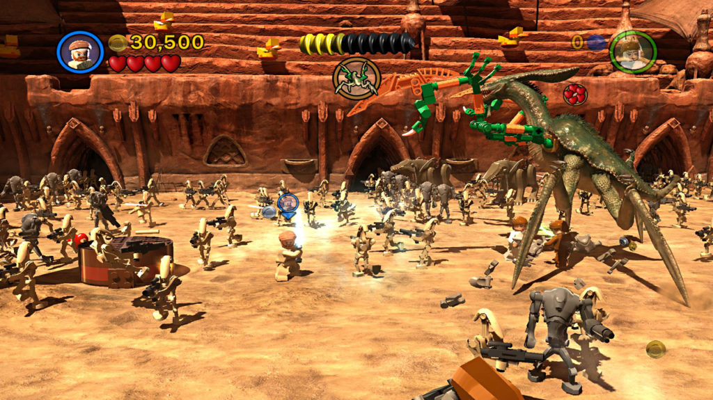The Battle of Geonosis in LEGO Star Wars III: The Clone Wars.