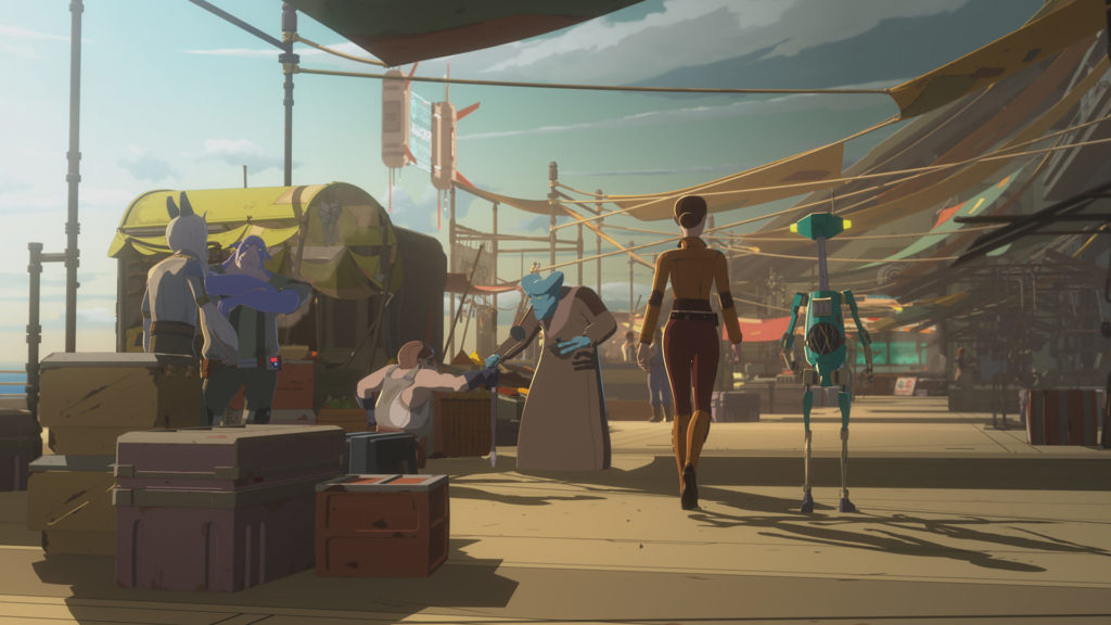 The Colossus marketplace in Star Wars Resistance.
