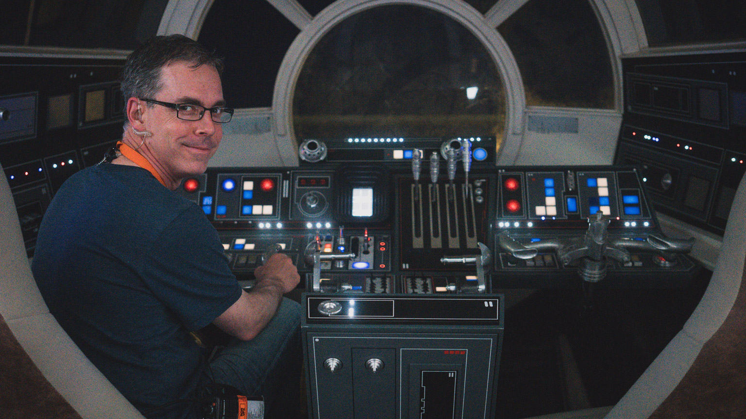 Rob Bredow, right, is seen on the set of Solo: A Star Wars Story.