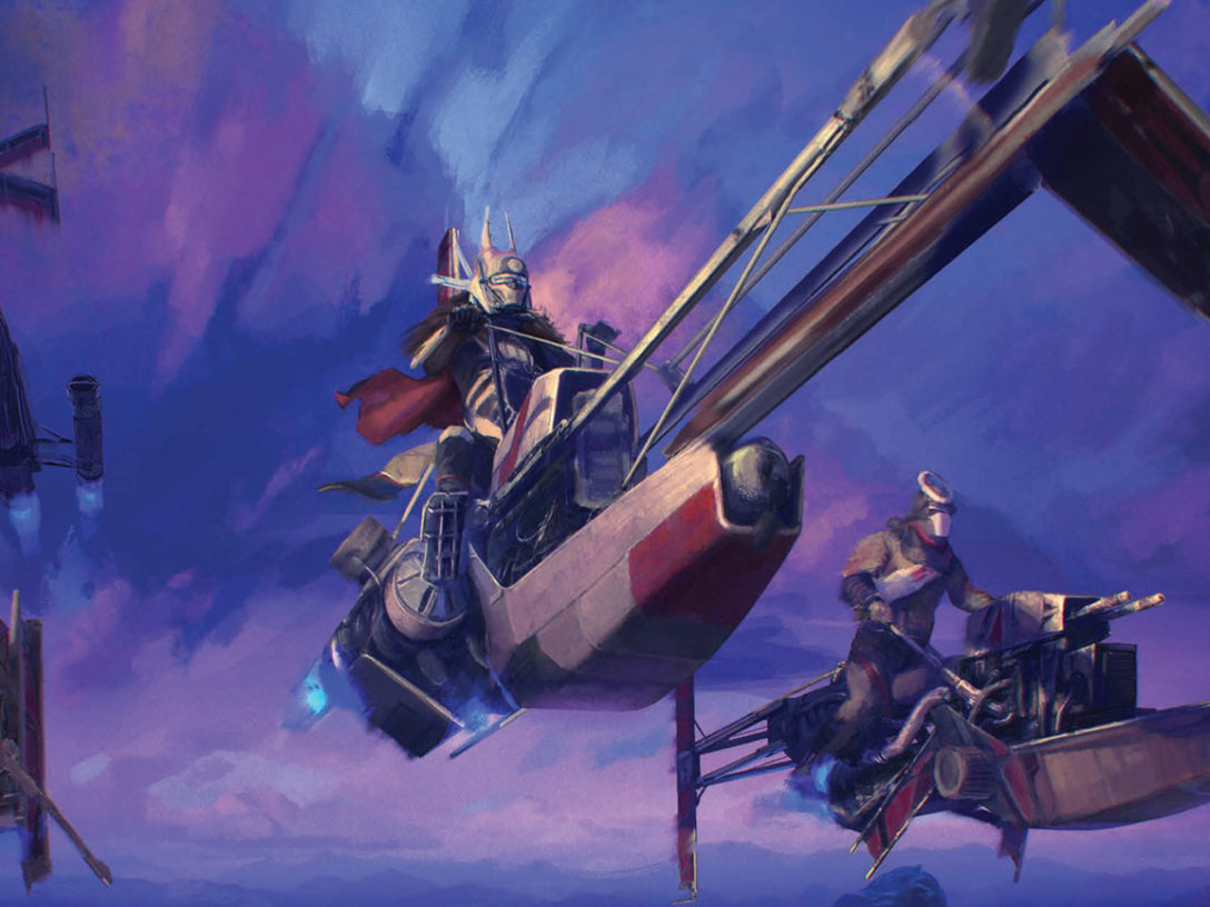 A painting of Enfys Nest in the book Scum and Villainy.