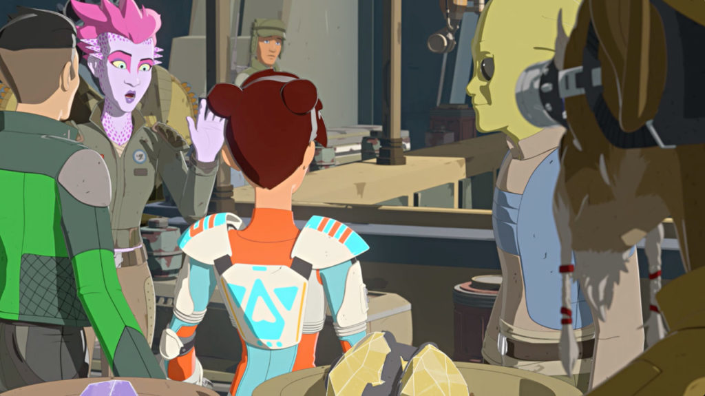 Namua and Jooks in Star Wars Resistance.