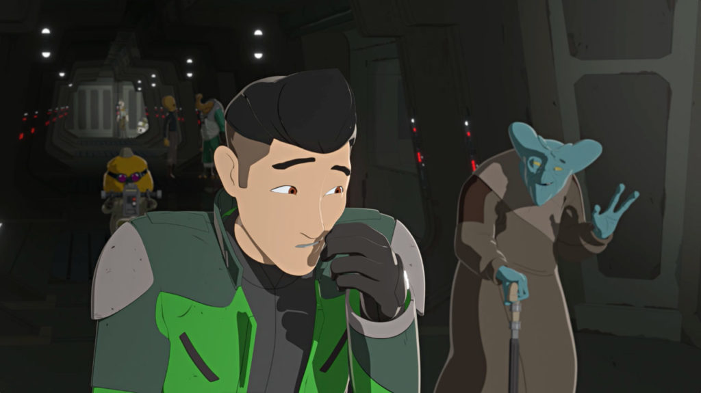 Garma waves to Kaz in Star Wars Resistance.