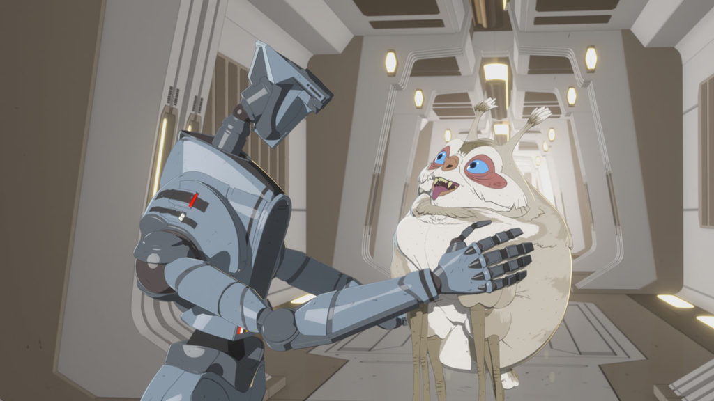 Torra's droid in Star Wars Resistance.