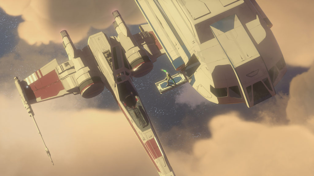 Kaz prepares to board an X-wing in Star Wars Resistance.