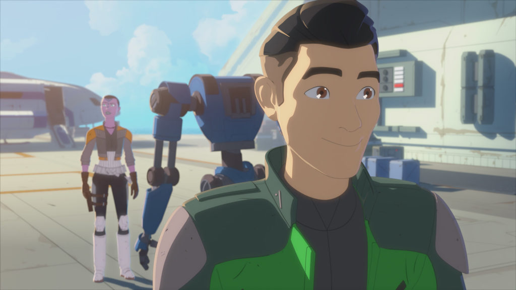 Synara and Kaz in Star Wars Resistance.