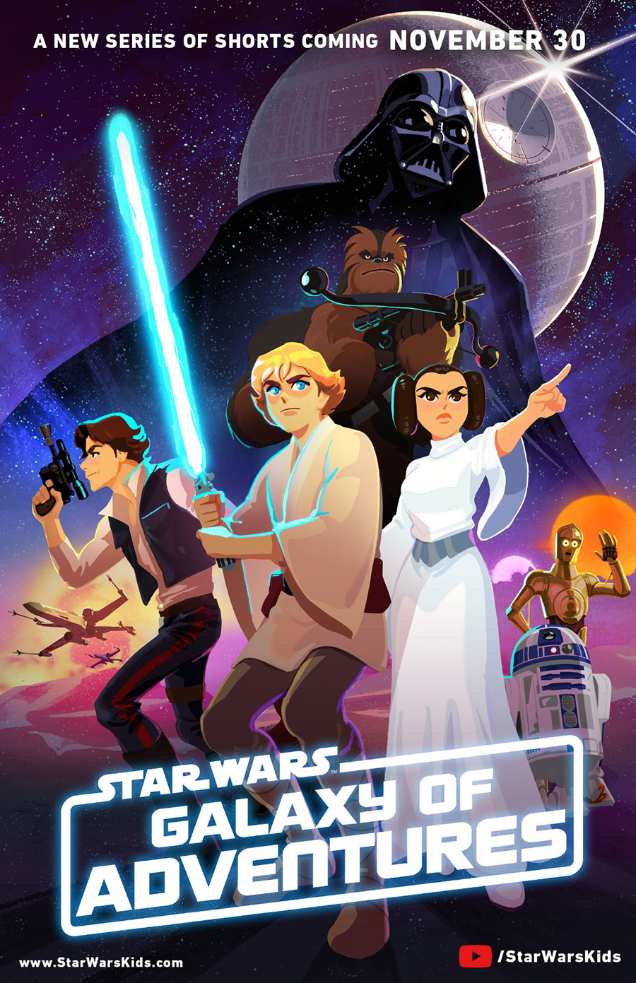 Poster art for Star Wars Galaxy of Adventures.