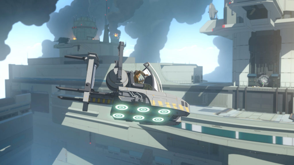 Yeager's hoverlift in Star Wars Resistance.