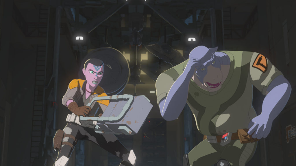 Synara versus Orthog in Star Wars Resistance.