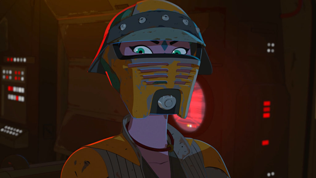 Synara in pirate gear in Star Wars Resistance.